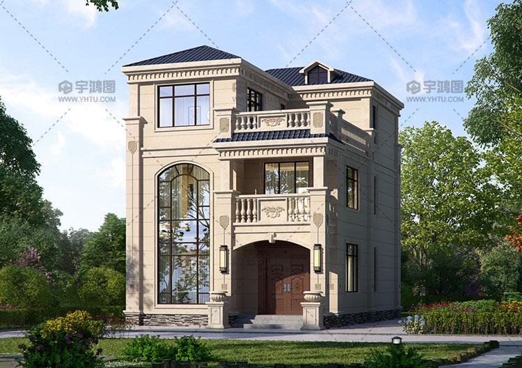 110平小开间三层欧式别墅图纸